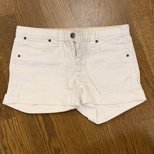 Jcrew white jeans short size 4